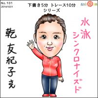 オリンピック選手似顔絵