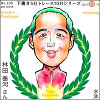 パラリンピック選手似顔絵