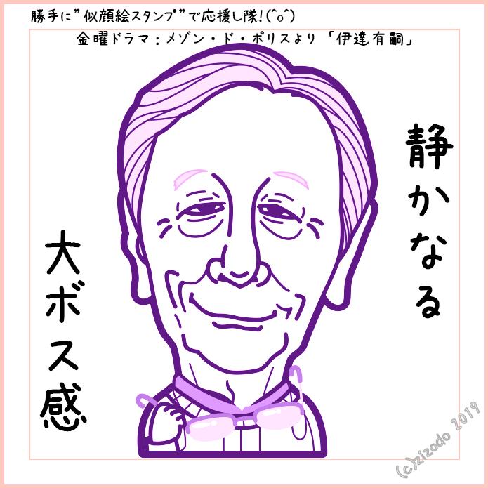 メゾンドポリスから近藤正臣さん似顔絵